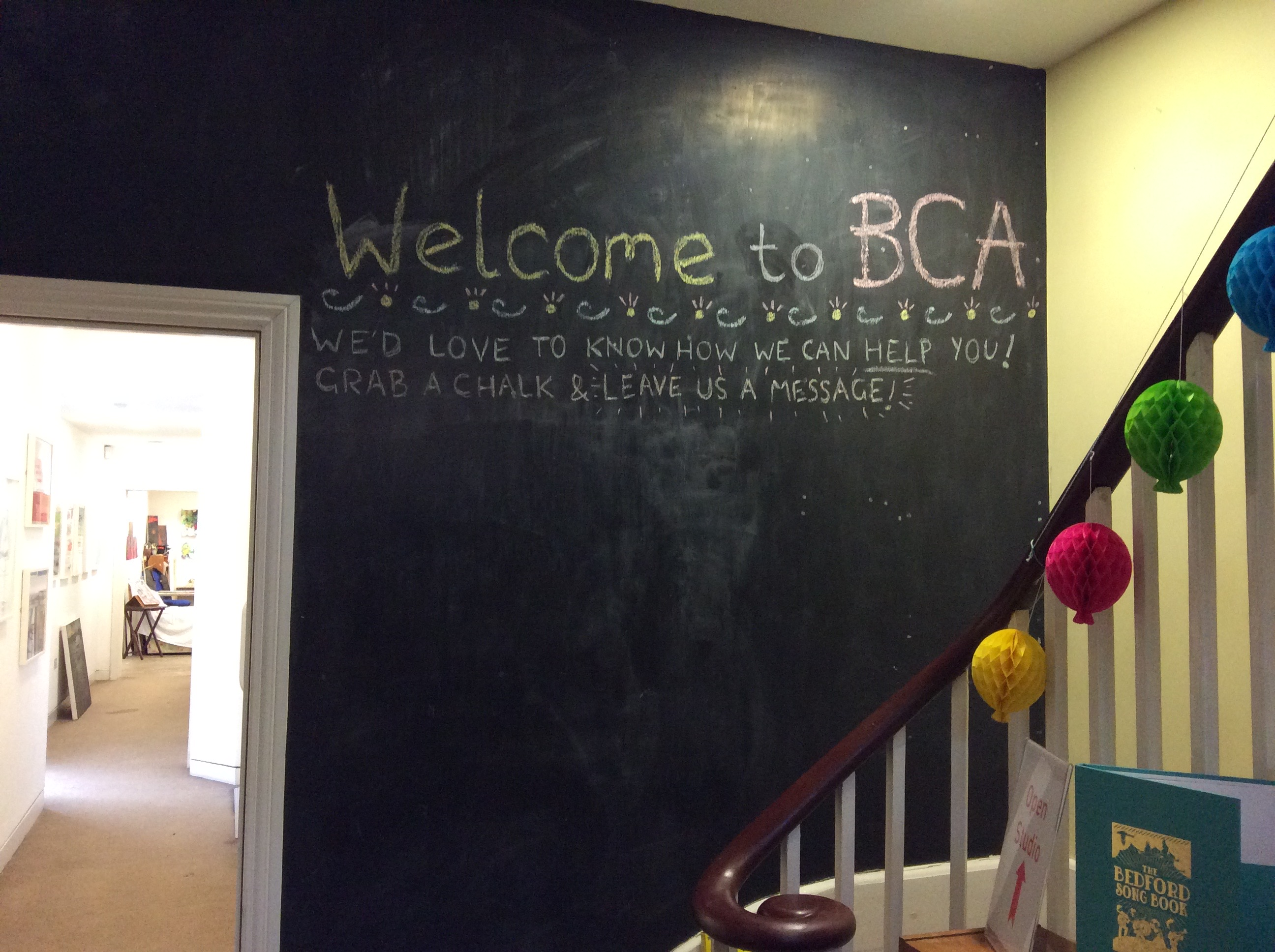 Welcome to BCA chalk wall for messages