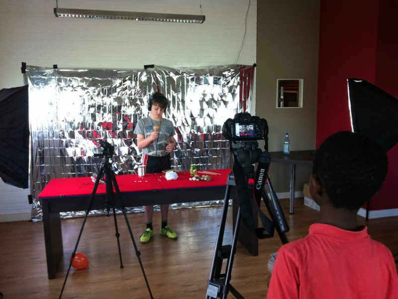 Clubhouse filming