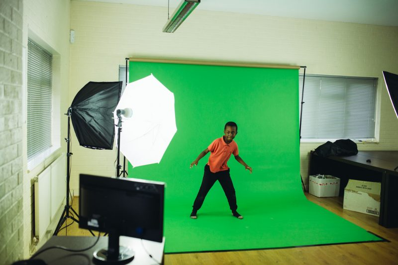 Clubhouse green screen